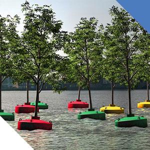 Rotterdam forêt flottante port