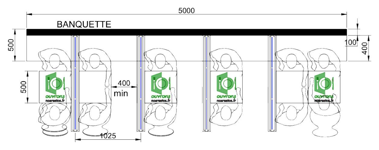 Solution avec séparations entre deux tables