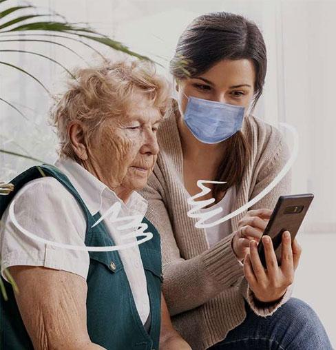 O2 Care Services Covid appels vidéo